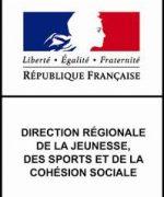 logo direction régionale de la jeunesse, des sports et de la cohésion sociale