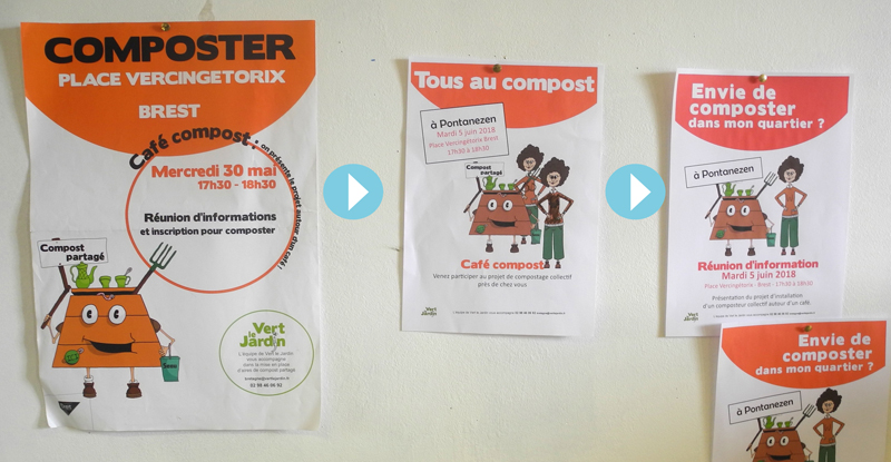 évolution de l'affiche compost