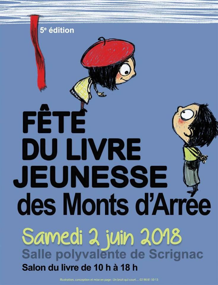 affiche de la fête du livre jeunesse des Monts d'Arrée