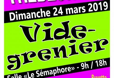affiche vide grenier Trebeurden