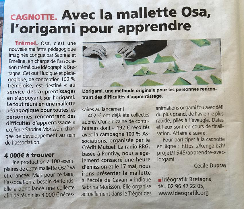 Article Le Trégor jeudi 9 mai 2019