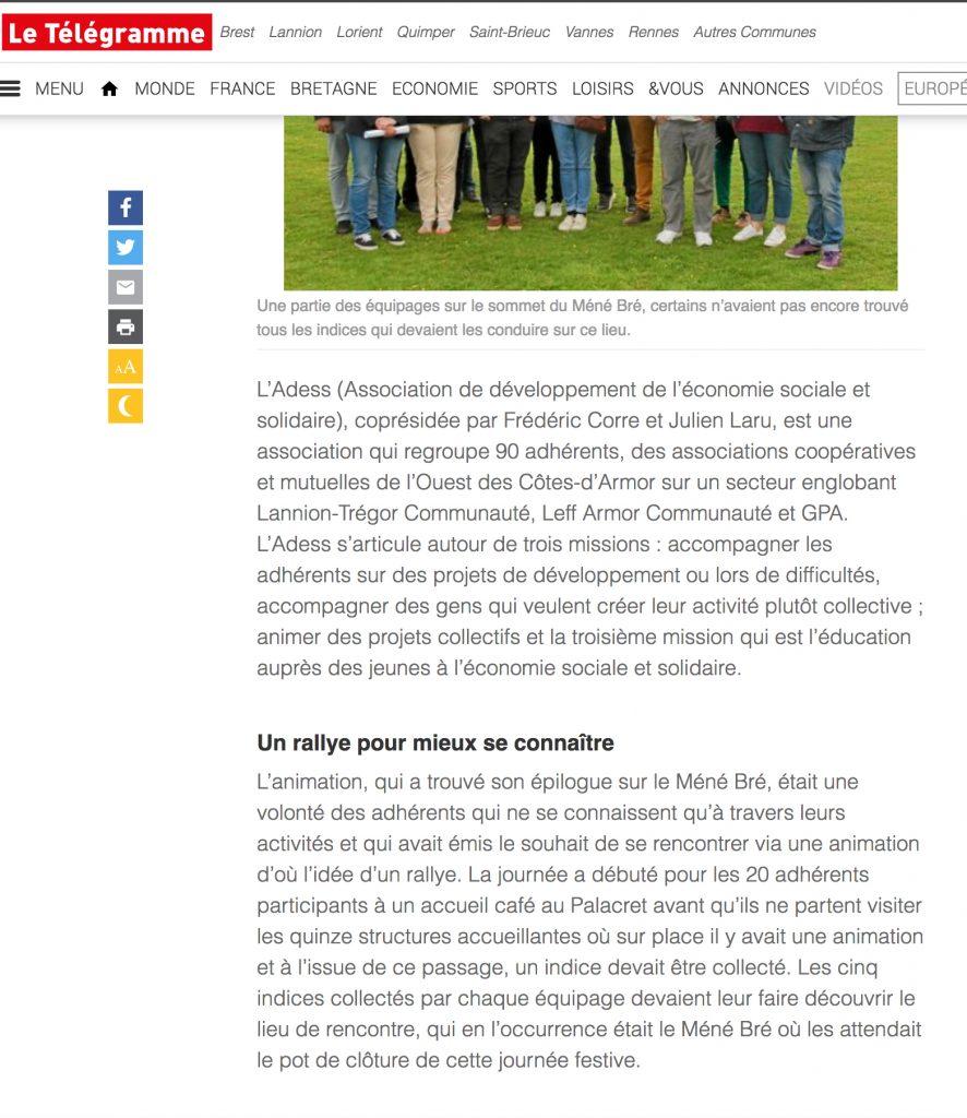 article Télégramme 24 mai