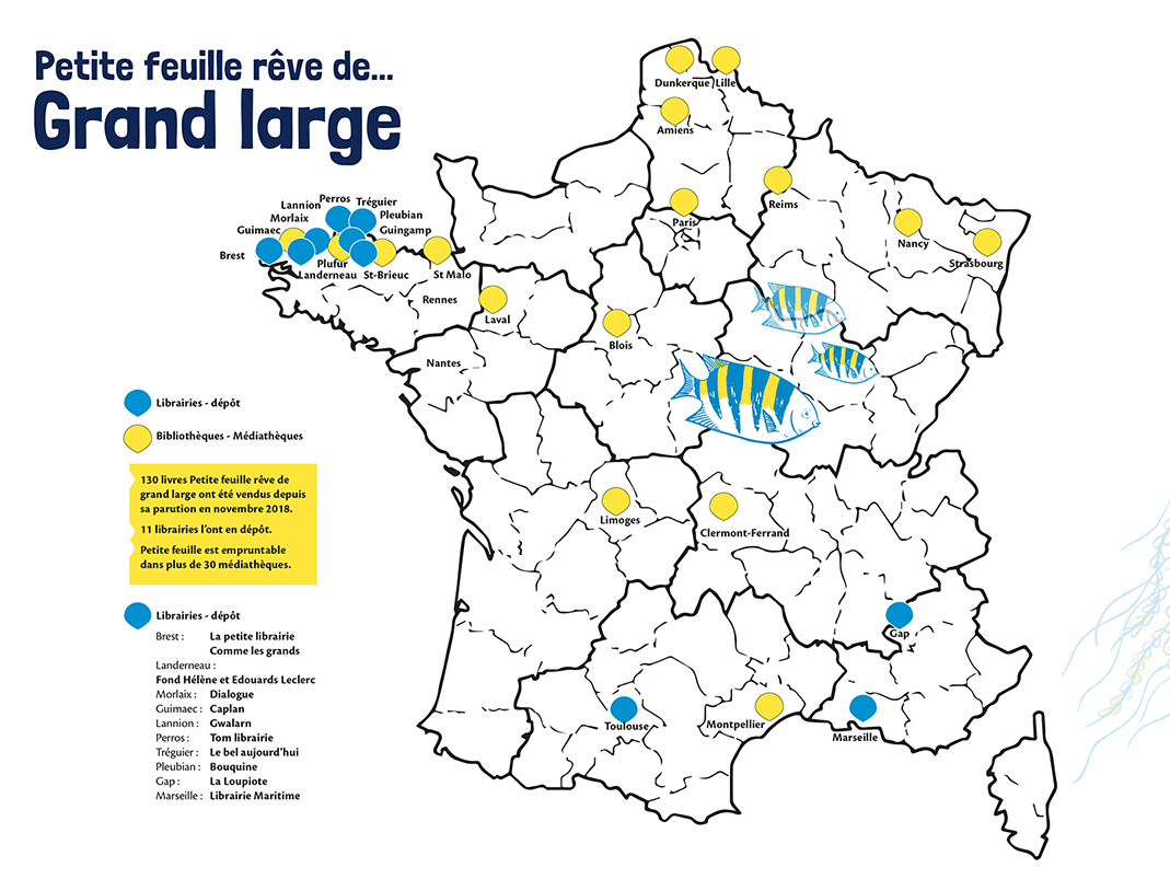 Petite feuille est partie en 2019 dans toute la France.