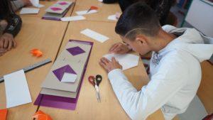 Atelier l'origami au service des apprentissages, classe ULIS collège La Grande Métairie Ploufragan.
