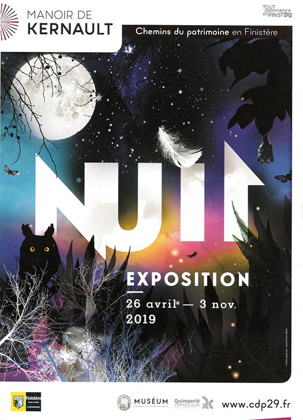 carton d'invitation à l'inauguration de l'Expo Nuit
