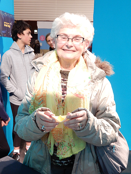 Salon FOUGERE Dame âgée pliant un petitbateau