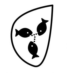 logo représentant des poissons qui communiquent entre eux