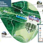 Plan zoomé de la zone du château et de ses jardins