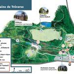 plan général du Parc de Trévarez, présentant l'ensemble du parc et ces aménagement accessibilité