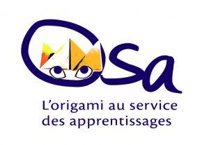 Logo de la mallette OSA (L'origami au service des apprentissages)