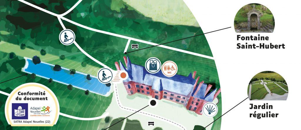 extrait des plans du parc de Trévarez